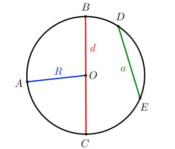 Окружность: радиус, диаметр, хорда