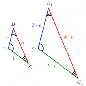 Подобные треугольники: коэффициент подобия