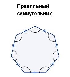 Правильный семиугольник