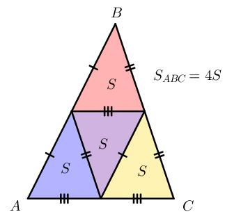 Свойство медиан треугольника